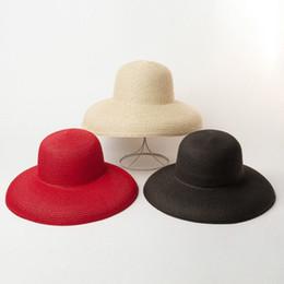 $enCountryForm.capitalKeyWord Australia - Women Sun Hats Wide Brim Summer Straw Hats 2019 New Natural Black Fashion Floppy Beach Boater Hat Cap Kentucky Derby Hats Y19070503