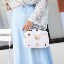 $enCountryForm.capitalKeyWord Australia - 2019 new fashion badge lipstick small square bag Korean version of fashion single-shoulder oblique bag