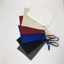 $enCountryForm.capitalKeyWord NZ - 28*20cm Blank Canvas Storage Bags Zipper Handbag DIY Makeup Cosmetic Bags Wholesale Pen Pouches Pencil Cases