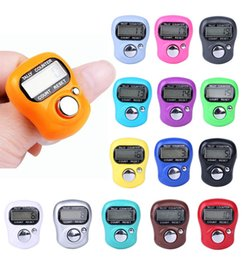 row counter electronic Australia - CARPRIE Digit Digital LCD Electronic Golf Finger Hand Ring Knitting Row Tally Counter TALLY Pedometer Random Color