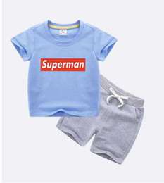 $enCountryForm.capitalKeyWord UK - Hot Sell Summer Boys Girls Clothing Children Outfits Short Sleeve Stripe Shirts + Shorts with Belt 2pcs Sets Adorable Baby Suits