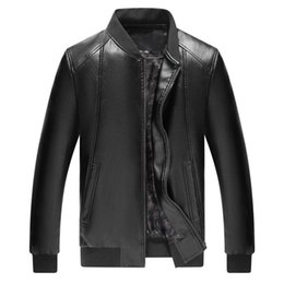 $enCountryForm.capitalKeyWord Australia - Mens Leather Jacket Clothes Middle-aged And Old People's Leather Garments Slimming Korean Pu Jacket Leisure Locomotive Coat