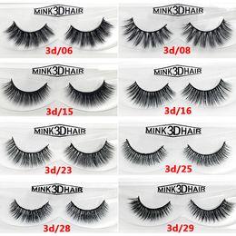 Wholesale 12 Style 3d Mink False Eyelashes 3d Mink HAIR False Eyelashes Three-dimensional Long Thick Lashes Mink Lashes DHL free shipping