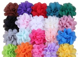 Chiffon Flower Hair Clips Wholesale Australia - BABY GIRLS Chiffon Flower clip hairpin Barrettes children hair pin clips hairclips hair bows hair JEWELRY For Girls