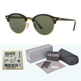 Flash Glasses Australia - High Quality Brand designer Round Sunglasses Men Women Sun glasses Plank Frame Flash Mirror Glass Lens with Retail box and label