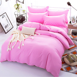 $enCountryForm.capitalKeyWord Australia - Pink Color Duvet Cover Sets For Single Double Bed Kids Adults 6 Sizes 100% Cotton Bedding Sets XF644-2