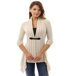 Shirt Poncho Australia - Summer Women shirt 2019 New Solid Cotton Female Irregular Tassels Ladies Cardigan Sweater Pullover Boho Poncho Top Knit V-neck