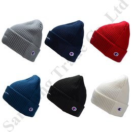 $enCountryForm.capitalKeyWord Australia - Women Men Kintted Beanies Designer Hats Champion Brand Wool Cap Fall Winter Warm Hip Hop Skull Cap Fashion Solid Color Kint Hats C81905