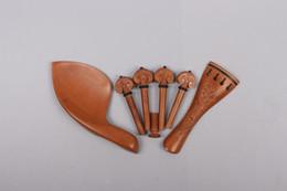 $enCountryForm.capitalKeyWord Australia - 4 4 Violin Kit Violin Peg tailpiece fine tuner Chinrest Rosewood Pattern carved