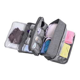 Cosmetic Bags Compartments Australia - Women Underwear Bags Ladies Travel Compartment Wash Cosmetic Clothes Organizer Fashion Bra Storage Cases Accessories Supplies #114244