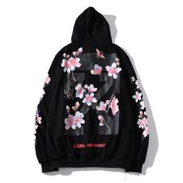 $enCountryForm.capitalKeyWord Australia - M--2XL Women and Mens Designer Hoodies Cherry Blossom Sweater Pink Peach Blossom Male and Female Couple Round Neck Thin Hoodie