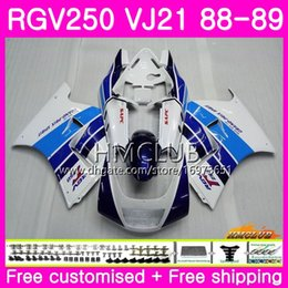 fairing 1989 Australia - Bodys For SUZUKI SAPC RGV 250 VJ21 RVG250 RGV250 88 89 90 91 92 93 17HM.15 White Blue Hot RGV-250 VJ22 1988 1989 1990 1991 1992 1993 Fairing