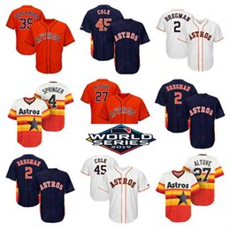 verlander jersey Australia - Womans Youth Mens 2019 World Series Astros Jersey Carlos Correa George Springer Justin Verlander Alex Bregman Jose Altuve Baseball Jerseys