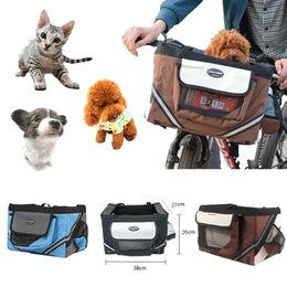 Discount dog bicycle - Promotion Pet Store Dog Cat Pet Bike Bicycle Basket - Foldable Detachable Travel Carrier