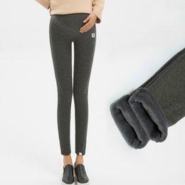 $enCountryForm.capitalKeyWord Australia - Maternity Cotton Thickening Plus Velvet Gold Velvet Pregnant Women Leggings XL Maternity Pants Stomach Lift Pants Winter