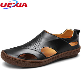 $enCountryForm.capitalKeyWord Australia - 2017 Summer Sandals Leather Men Shoes Casual Soft Hollow Driving Beach High Quality Outdoor Sport Super Fiber Fashion Sandalias