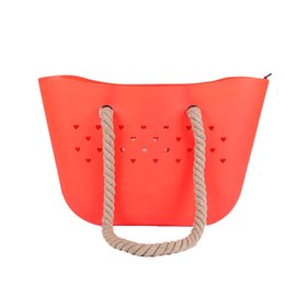$enCountryForm.capitalKeyWord Australia - Women One-shoulder Beach bag Environmental Protection Waterproof Ladies Silicone Handbag Wallet Rope Punching Bag