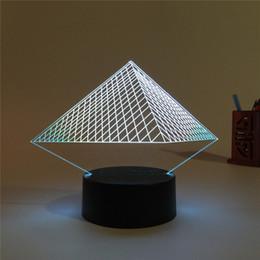 $enCountryForm.capitalKeyWord Australia - Hot sale Pyramid 3D USB Led night light 7 Colors Changing Christmas Mood Child Kids living bedroom table desk Lamp
