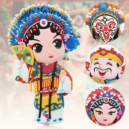 $enCountryForm.capitalKeyWord NZ - Magnet fridge Kids Stickers Beijing Opera Character Magnet decor Creative Chinese Features Style Refrigerator Home Decoration Gi