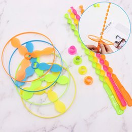 Saucer Toy Australia - 2019 Lowest price helicopter flying toys Hand push flying saucer and frisbee Hand rotation outdoor toys for Children's Day kids toys