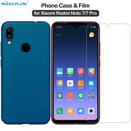 $enCountryForm.capitalKeyWord Australia - wholesale for Xiaomi Redmi Note 7 Cover Frosted Shield PC Case + Amazing H Tempered Glass for Redmi Note 7 Pro Case Film 6.3''