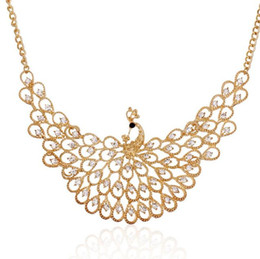 $enCountryForm.capitalKeyWord Australia - Europe and the United States foreign trade crystal peacock diamond necklace fashion accessories sweater chain long money decorated clavicle