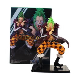 one piece action figures collection UK - 14cm Japanese Anime One Piece Action Figure Toys Bartolomeo PVC Action Figure Collection Model Toys For Kids Birthday Gifts