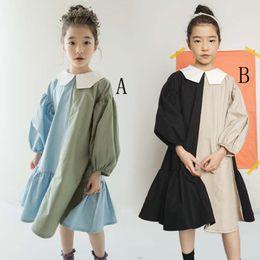 princess dresses for teenage girls 2019 - 2019 Brand New Girls Dress Two Colors Patchwork Children Cotton Dress for Baby Princess Dress Personality Teenage Dresse