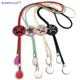 $enCountryForm.capitalKeyWord Canada - 2019 Fashion shining star shape Aluminum charm Rubber rope simple statement necklace clothes accessories for new office lady