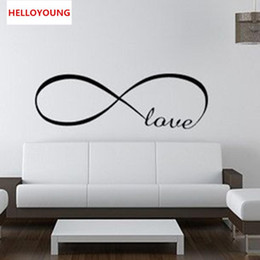 word art wall decor 2020 - Super Deal Bedroom Wall Stickers Decor Infinity Symbol Word Love Vinyl Art Wall Sticker Decals Decoration Removable chea