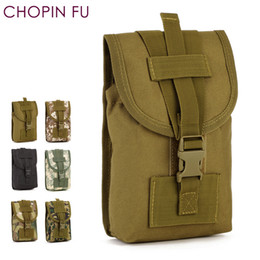 Cell phone waist pouCh online shopping - 7 size Molle Bag with Loop for Rucksack Belt waist bag for inch tablet IPAD mini cell phone tool kit Pouch A3146