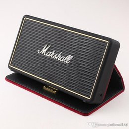 mini bluetooth speaker case NZ - Marshall Stockwell Portable Bluetooth Speaker Wireless Speakers With Flip Cover Case DHL drop shipping A quality