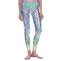 b740127d49 Leggings Sport Women Fitness yoga pants Fish Scale Mermaid High Waist  Fitness Metallic Shiny Sparkle Disco gym leggings seamless #996707
