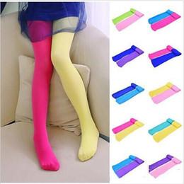 b01001a5927af Baby Leggings Pantyhose Girls Candy Velvet Dance Tights Toddler Patchwork  Princess Stockings Elastic Slim Skinny Pants Long Socks LT179
