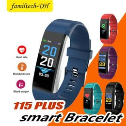 $enCountryForm.capitalKeyWord Australia - For Apple Watch Color Screen ID115 Plus Smart Bracelet Fitness Tracker Pedometer Band Heart Rate Blood Pressure Monitor Smart Wristband