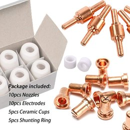 Cutter For Tips Australia - 30PCS PT31 LG40 Plasma Comsumables Kits Tip Electrode Shield Cup for Plasma Cutter Machine Torch