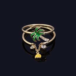 jewelry france paris 2021 - Fashion- France Paris Fruit Paradise Fashion Zirconia Plant Rings Womens Luxury Ring Enamel Glaze Jewelry Bague Femme
