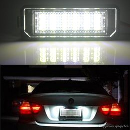 porsche led lights Canada - 2pcs lot Super Bright Car Number Plate Light For VW Scirocco Golf 4 5 6 GTI Car Styling LED Car License Plate Lights For Porsche SMD 3528