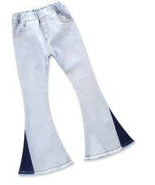 $enCountryForm.capitalKeyWord UK - kids pants girl fashion Wear white jeans bell-bottoms girl Leisure trousers Fringed jeans