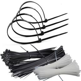 Venta al por mayor de cable de nylon negro directa de fábrica de unión 4 * 200 protección del medio ambiente de plástico incluido autobloqueante de nylon al por mayor de la atadura de cables