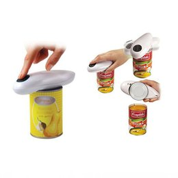 can opener one touch Australia - Electric Can Opener 2AA Batteries Operated(Not Included) Smooth Soft Edge With One-Touch Start Automatic Can Opener Kitchen Tools XD20681