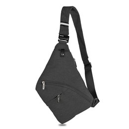 70b37cf937 New Anti Theft Chest Bag Sling Bag Male Front Body Men Safety Chest Pocket  Pouch Sling Shoulder Male Pack