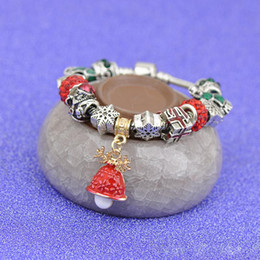 $enCountryForm.capitalKeyWord NZ - Young Girl Red Crystal Glass Square Beads Bangle Mushroom Pendant Silver Chain Christmas Jewelry Kids