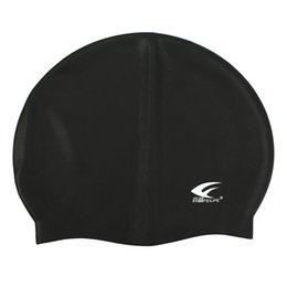 $enCountryForm.capitalKeyWord UK - FEIUPEF Swimming Pool Cap Unisex Silicone Molded Swim Hat Waterproof Shower Ladies Mens Black