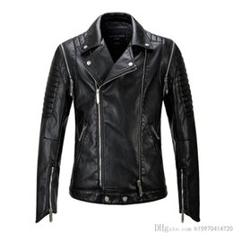 Faux leather jackets designer casual slim online shopping - New Mens Faux Fur Coats High Quality Luxury Casual Mens Designer Leather Jackets Slim Locomotive Fashion Leather Jacket Plus Size M XL
