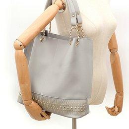 Three pieces handbags online shopping - Three Piece Rivet Shoulder Bag Women s Handbag Shoulder Bag Wallet