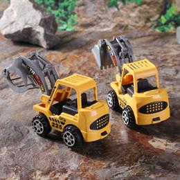 kids toy car keys 2019 - Hobbies Diecasts Toy Vehicles 6pcs lot Mini Car Toys Diecast Vehicle Sets Construction Bulldozer Excavator Engineering C