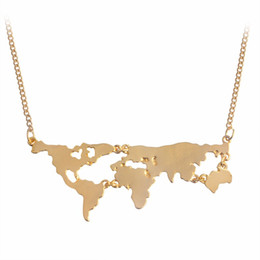 $enCountryForm.capitalKeyWord UK - Fashion jewelry World Necklace Earth Day Gift World Map Necklace world map pendant Globe Earth map wanderlust necklace