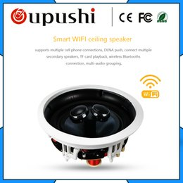 wifi speakers Australia - oupushi oupushi WIFI smart ceiling speaker 250mm hole size for villa home background music
