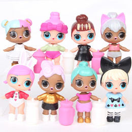 hot girls anime action figure Australia - HOT 8pcs lot 9CM LOL Dolls with Feeding Bottles American PVC Kawaii Children Toys Anime Action Figures Realistic Reborn Dolls Girls T29